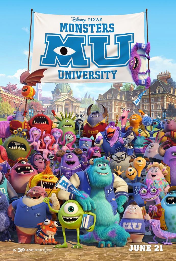 New Monster's UniversityPoster