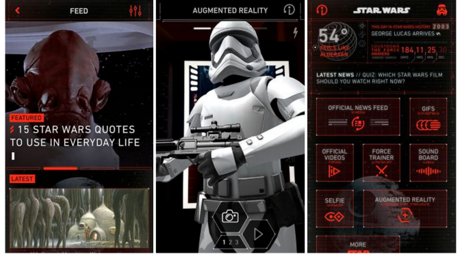 Disney unveils the first official Star Wars mobile app w/ lightsaber training, themed selfies, more